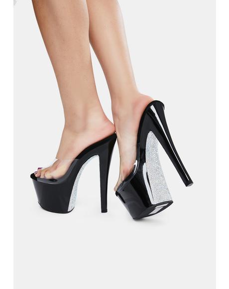 Midnight Here's A Tip Platform Heels