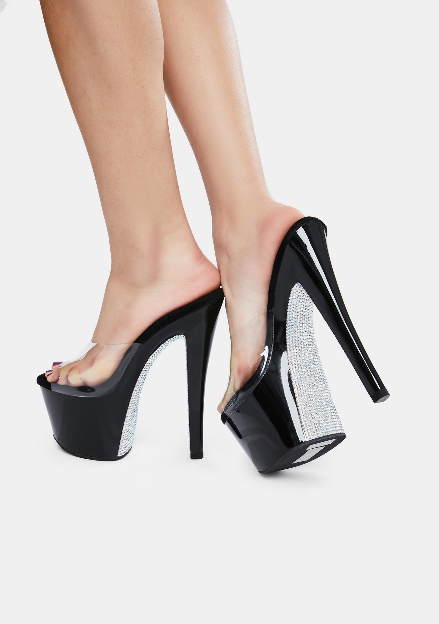Pleaser Midnight Here's A Tip Platform Heels