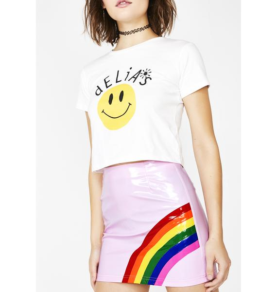 dELiA*s by Dolls Kill Baby Rainbow Magic Mini Skirt