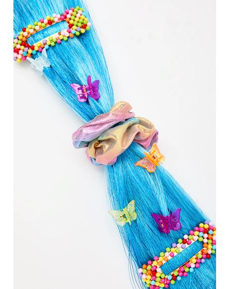 Turquoise Flicker Twinkle Hair Extension