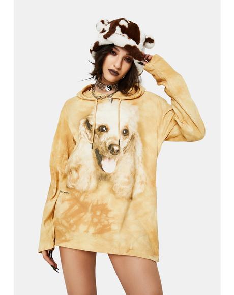 Happy Poodle Portrait Hoodie