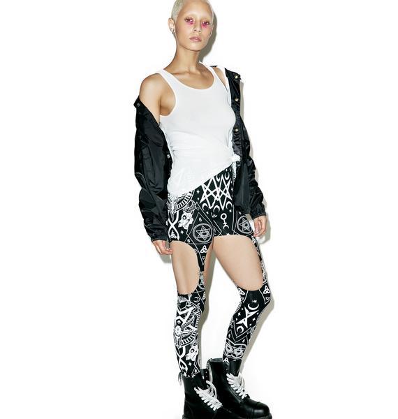 Killstar Evilyn Suspender Leggings