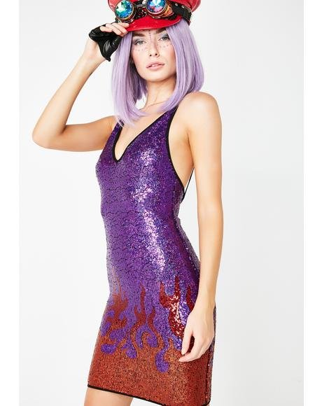 Purple Flame Dress