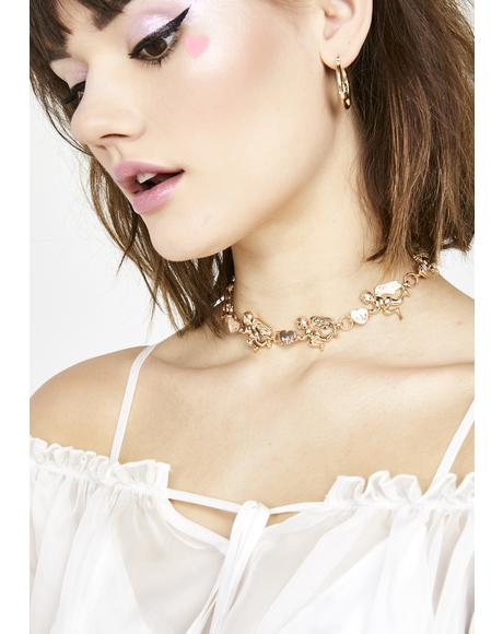 Lover's Choke Hold Cupid Choker