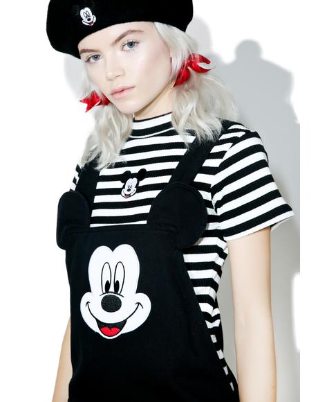 X Disney Mickey Mouse Pinafore Dress