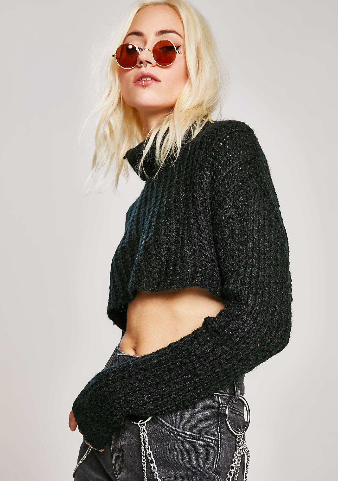 Cold Call Cropped Sweater