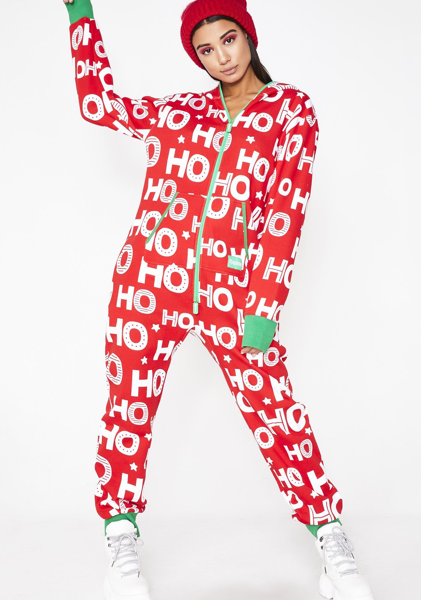 Tipsy Elves Ho Ho Ho Jumpsuit