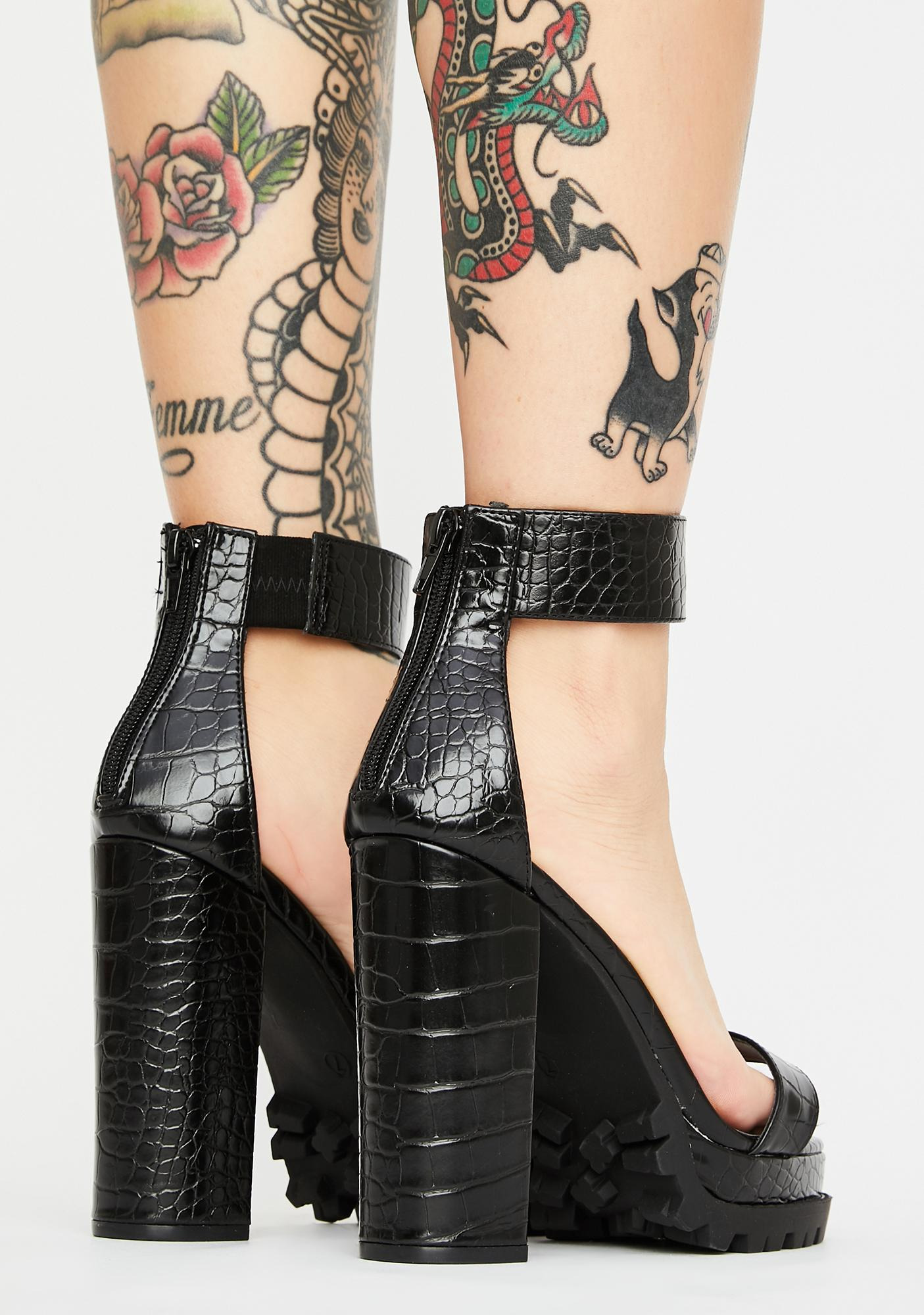 Savage Bodysnatchers Block Heels