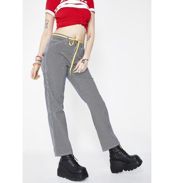 Dickies Girl Hickory Stripe Carpenter Pants