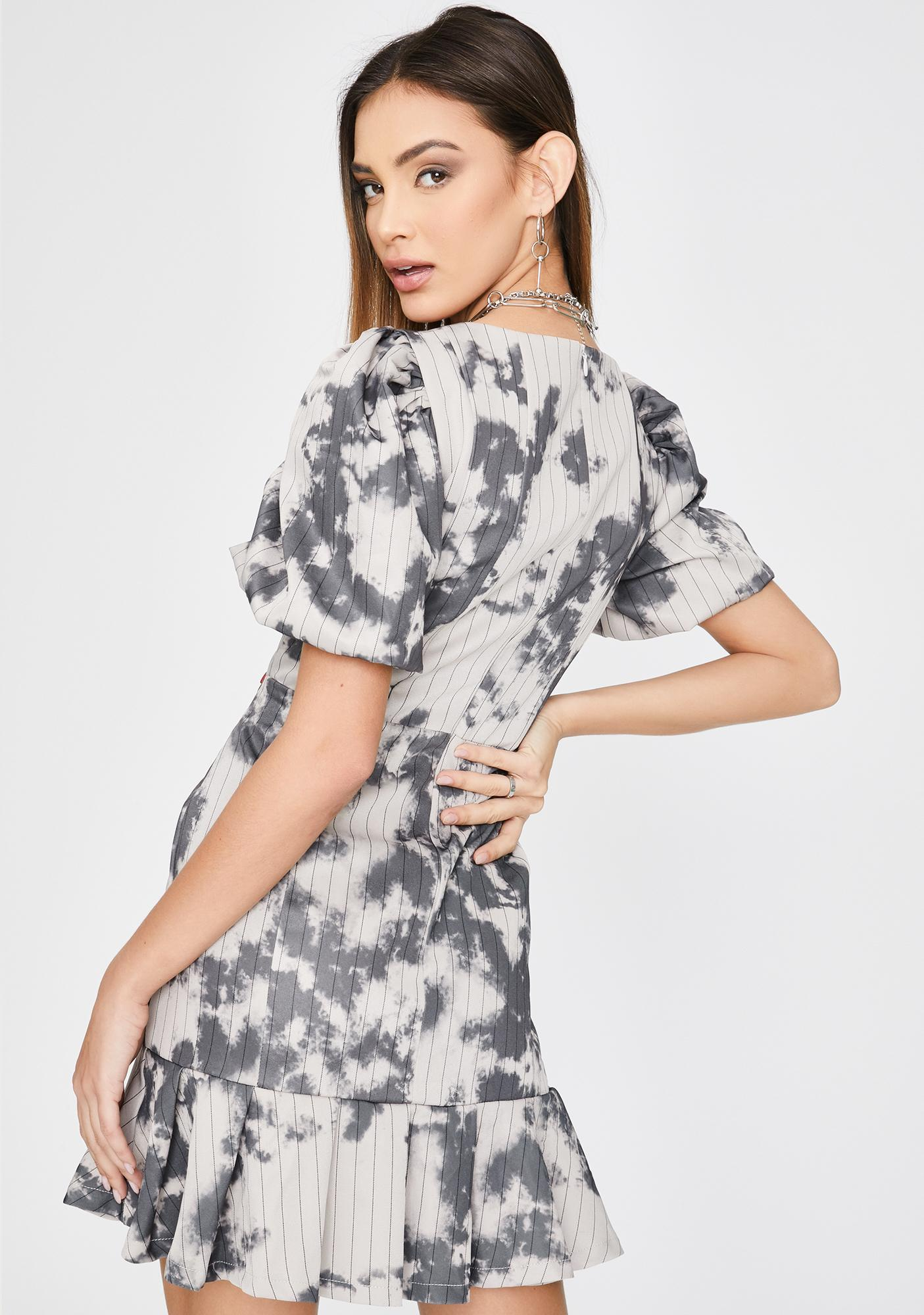 Jaded London Milkmaid Pinstripe Skater Dress