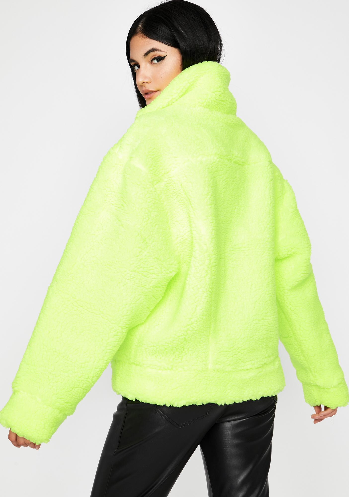 Honey Cloud Puff Sherpa Jacket