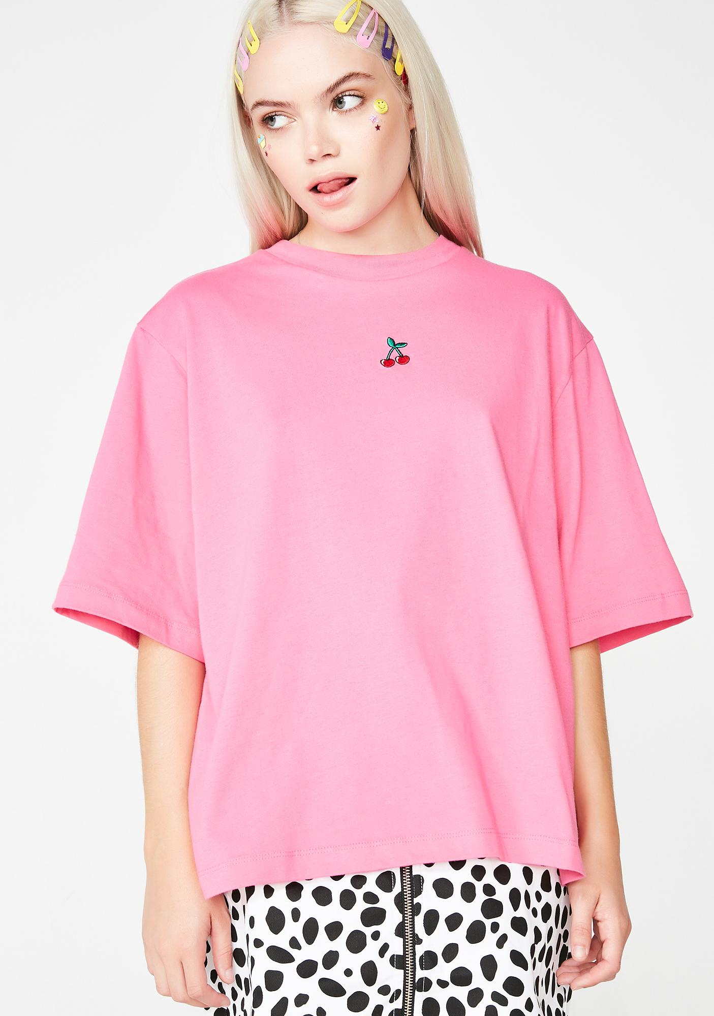 Lazy Oaf Hot Pink Cherry Top