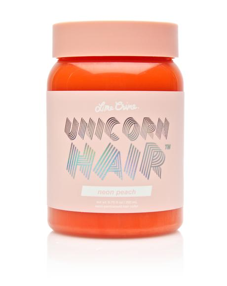 Neon Peach Unicorn Hair Dye