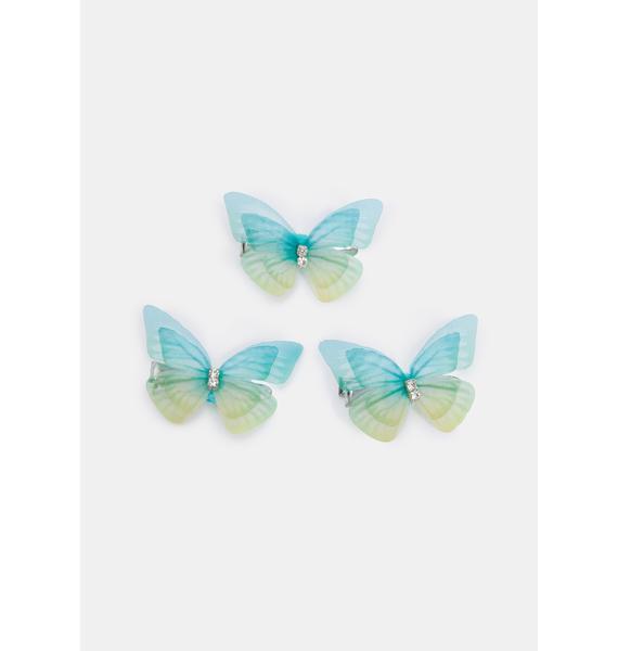 Gentle Kiss Butterfly Hair Clips
