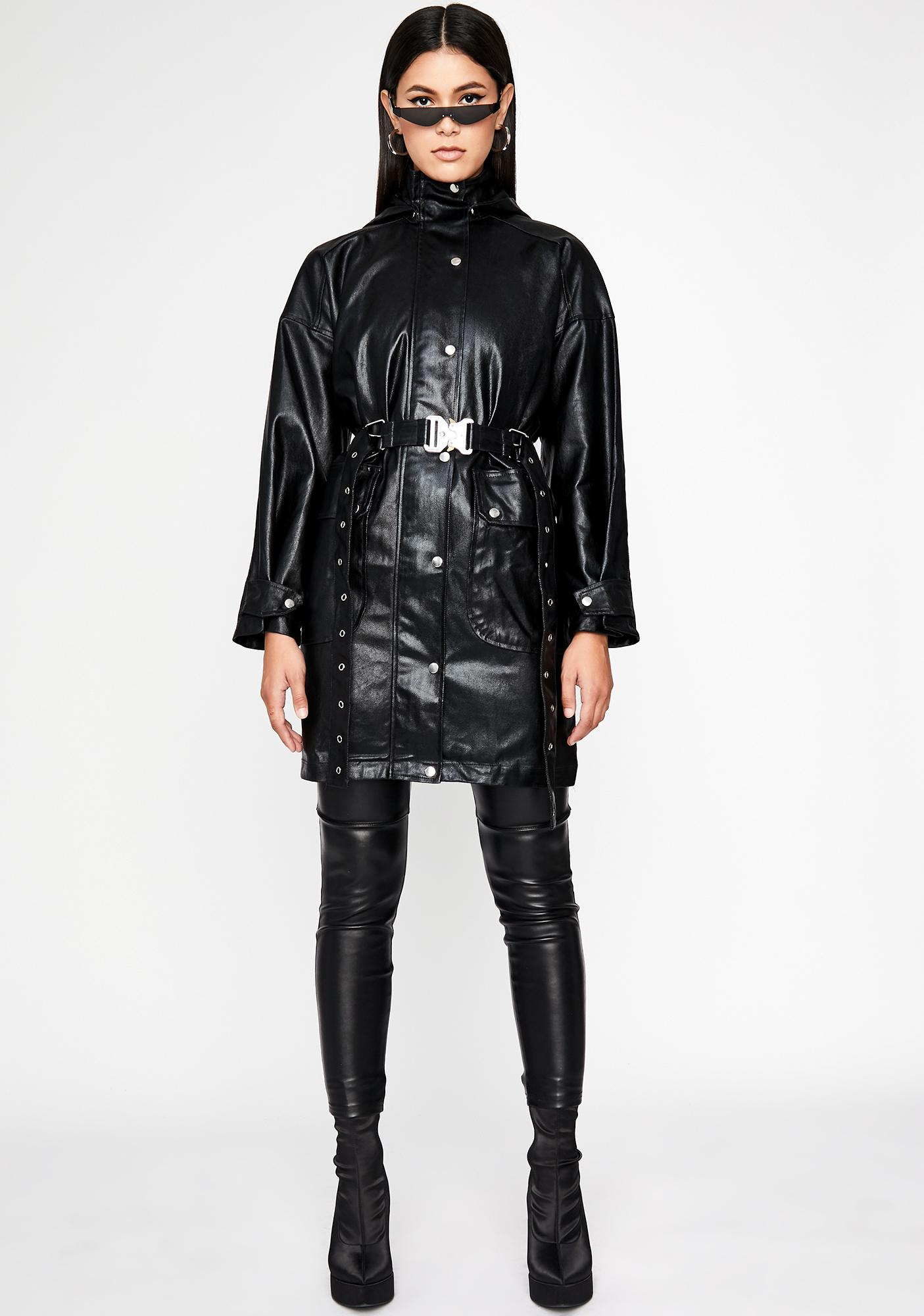 Paid To Slay Belted Jacket