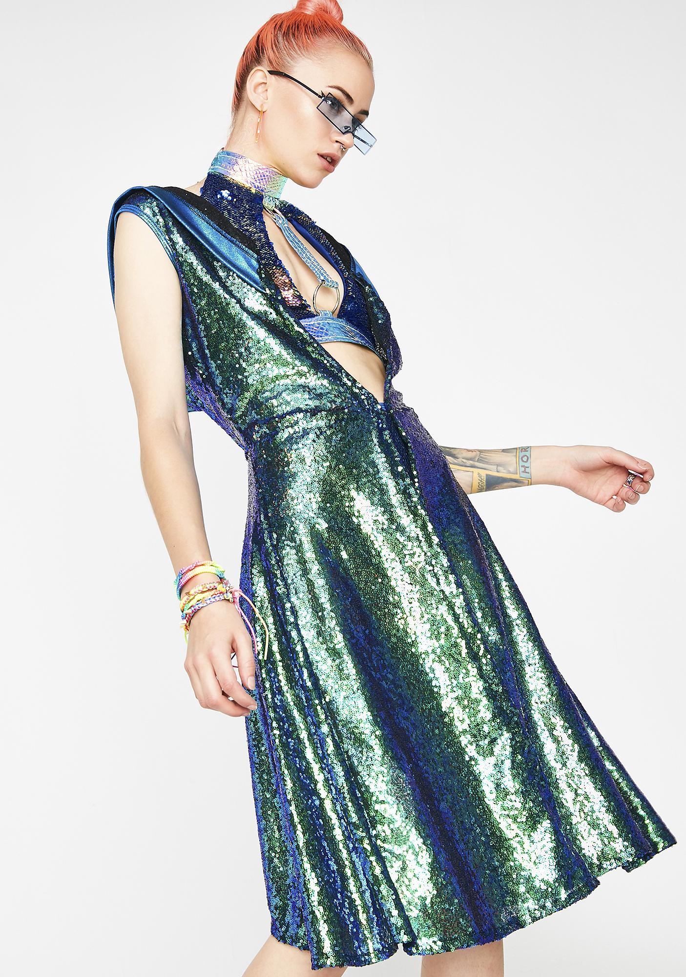 Merbabe Sorcer-Yass Sequin Vest