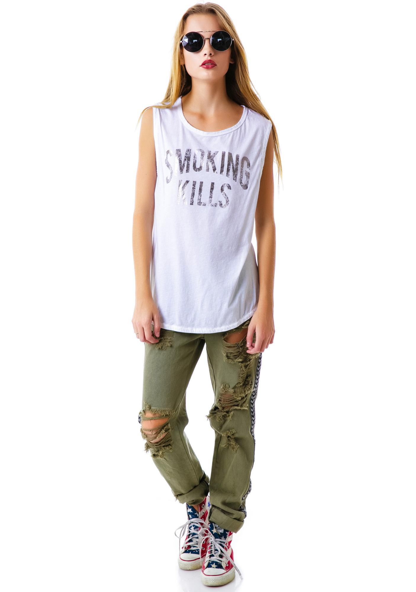 Chaser Smoking Kills Sleeveless Tee