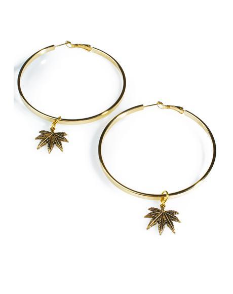 Hoop Dreams Leaf Earrings