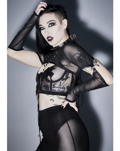 Fatal Affliction Mesh Bustier