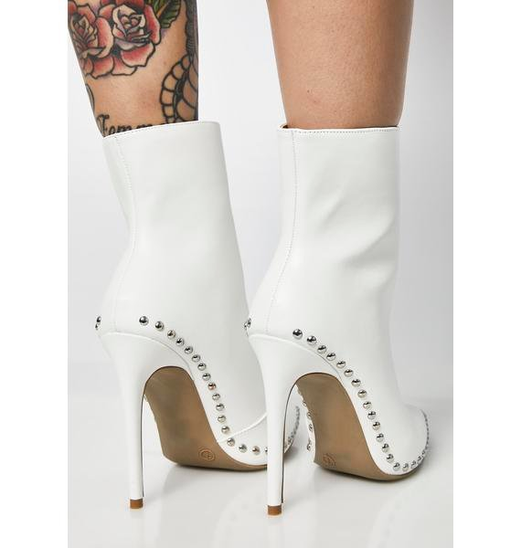 Ice Into The Abyss Studded Booties