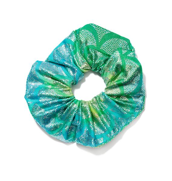 J Valentine Aqua Mermaid Light-Up Scrunchie