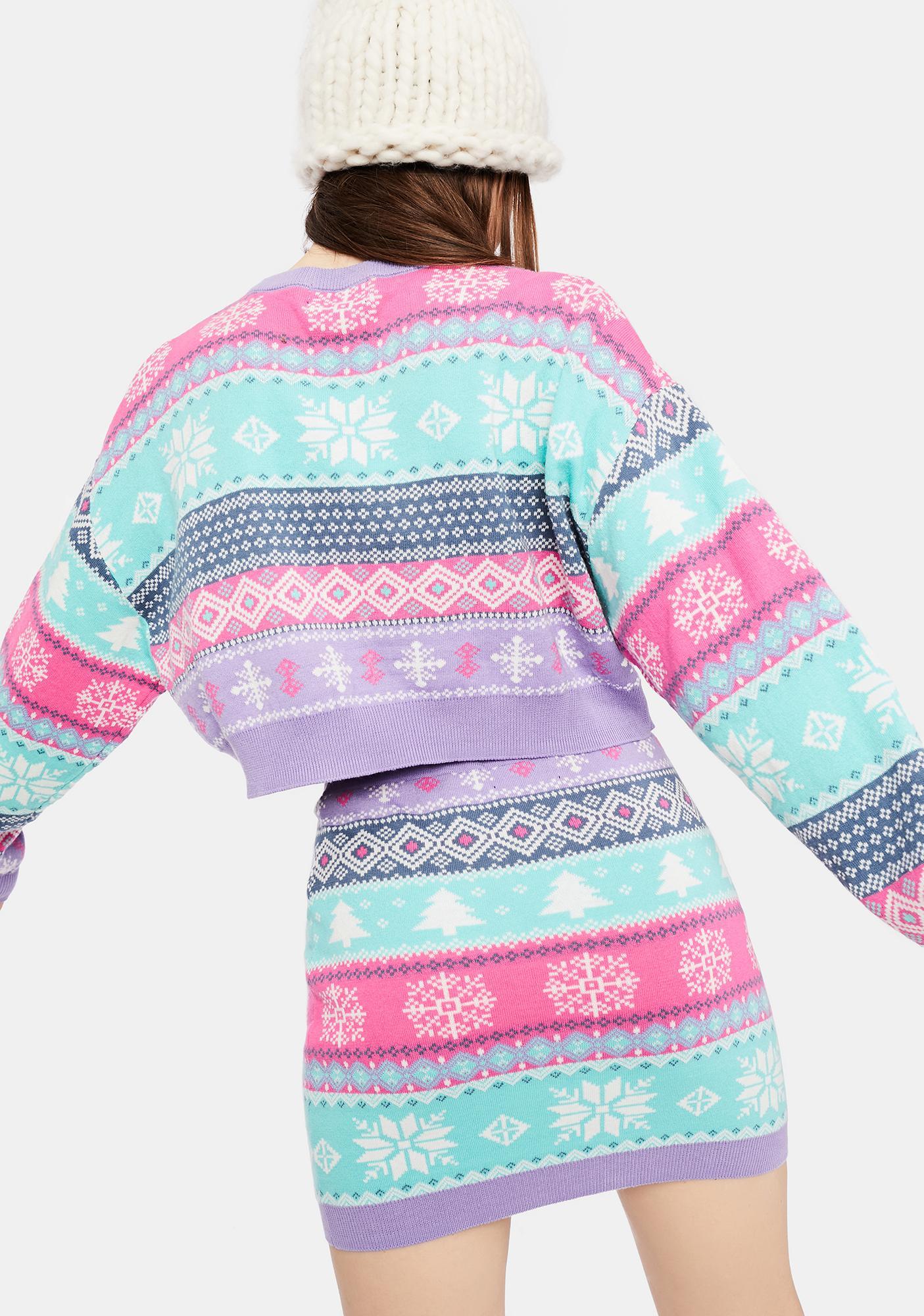 dELiA*s by Dolls Kill Visions Of Sugarplums Fairisle Sweater
