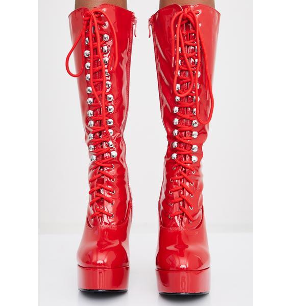 Devilish Beverly Heels Baddie Platform Boots
