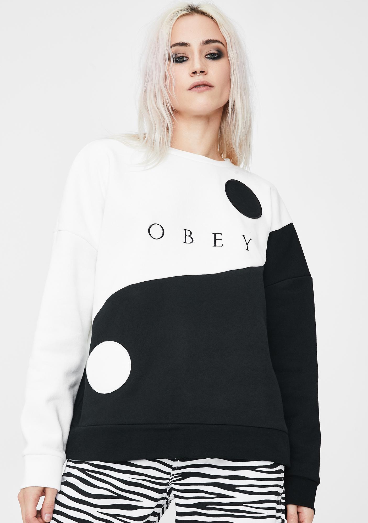 Obey Darkside Crew Graphic Sweatshirt