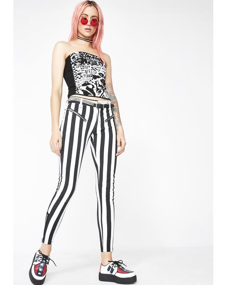 Strange N' Unusual Stripe Pants