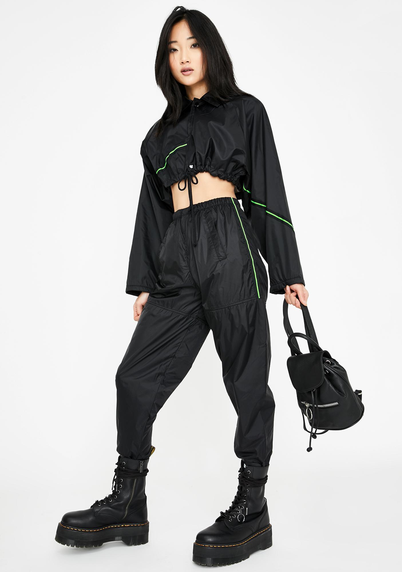 Rojas Neon Stripe Windbreaker Pants