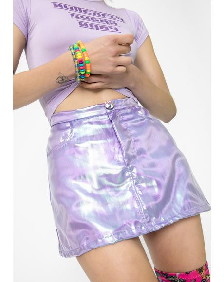 Lilac Fairy Dust Mini Skirt