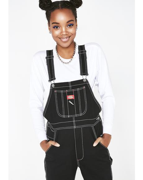 Relaxed Twill Overalls