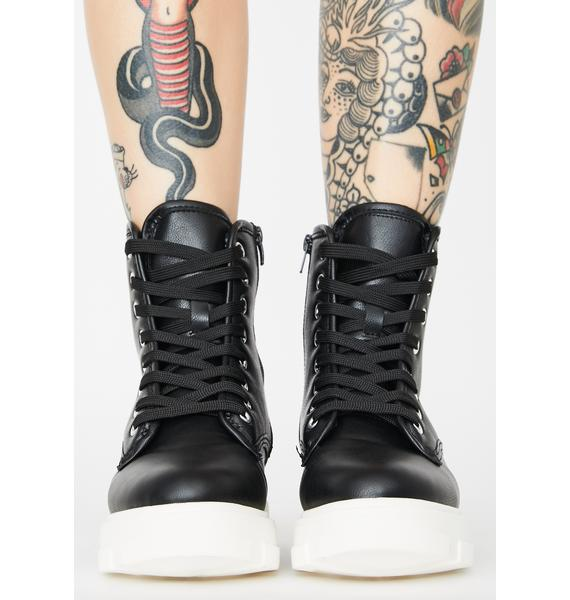 Double The Dopeness Combat Boots