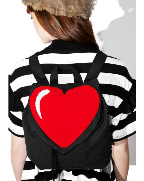 Big Heart Mini Backpack