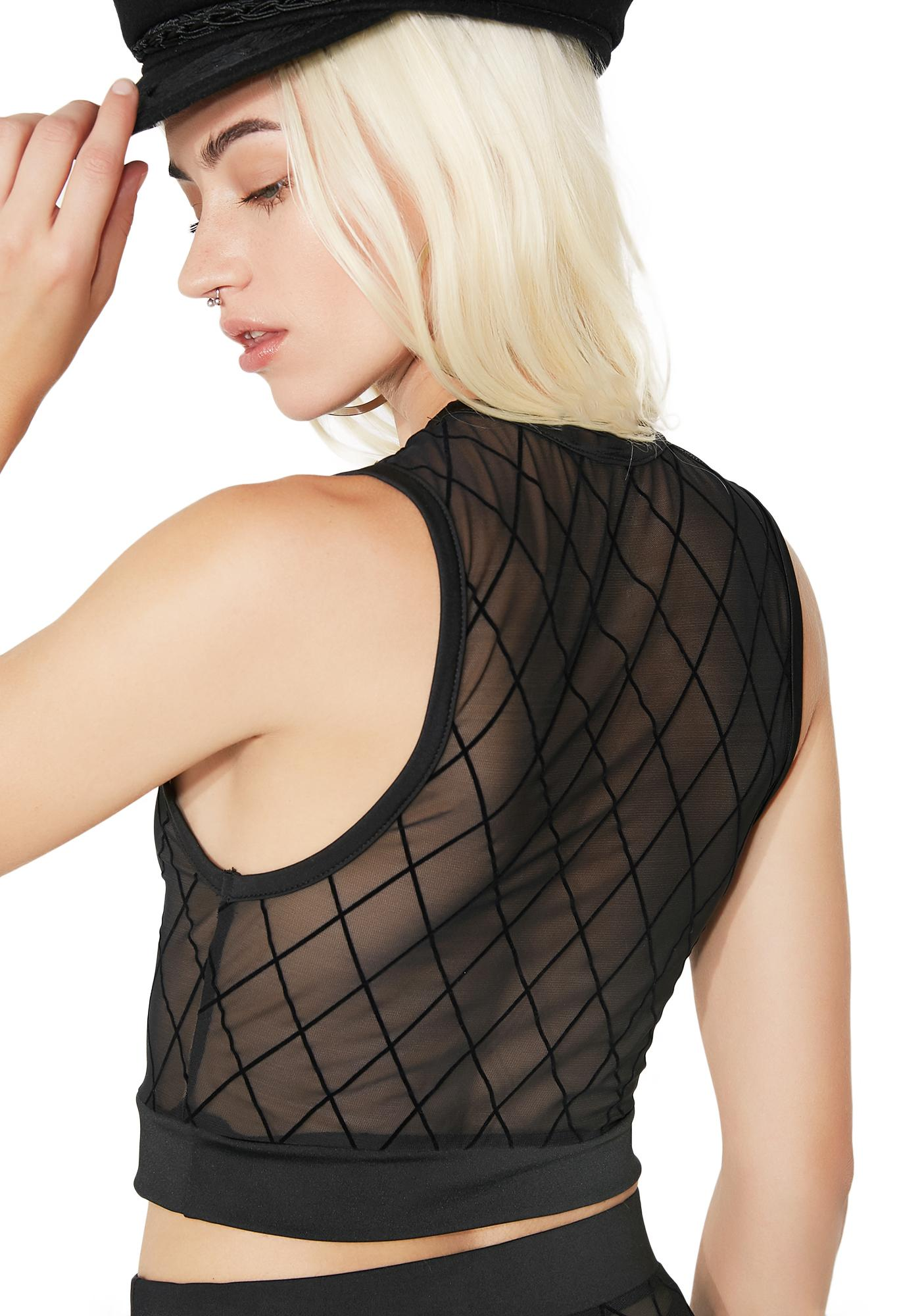 Shadowtime Sheer Cropped Tank