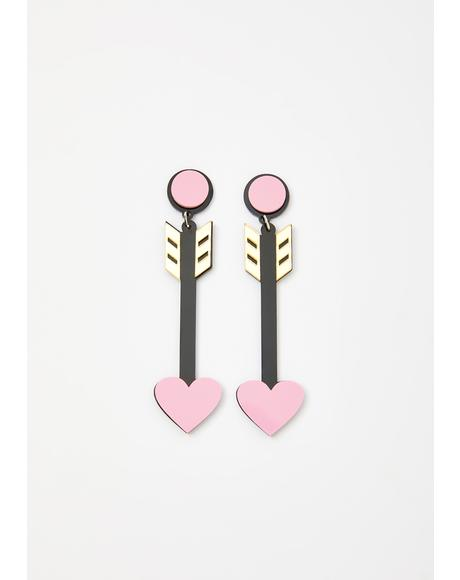 Love Saint Arrow Earrings