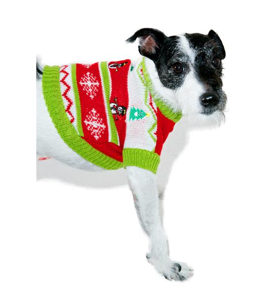 Puppy Present Dog Sweater