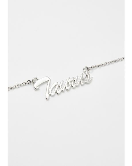 Troublemakin' Taurus Nameplate Necklace