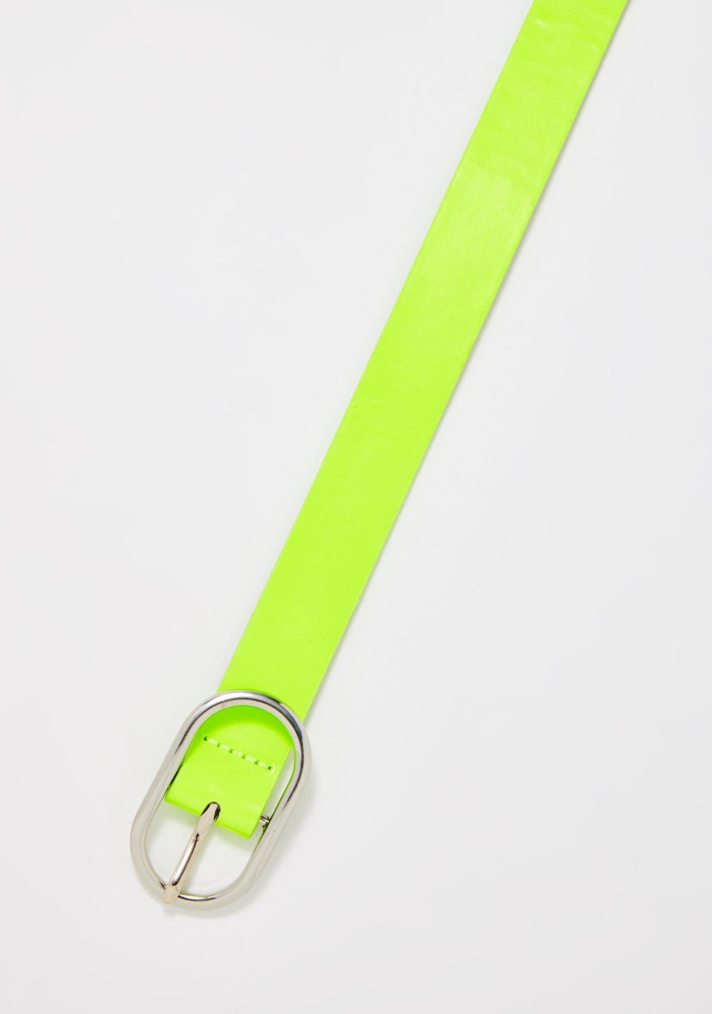 Electric Neon Nightz Skinny Belt