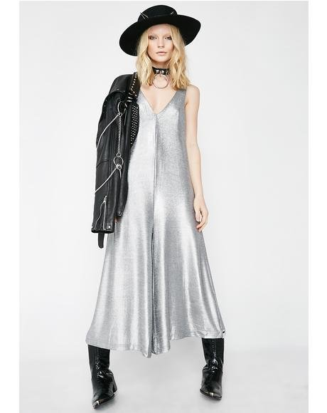 Rebel Muse Metallic Jumpsuit