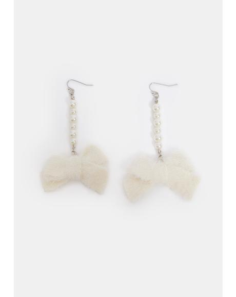 Pearls N' Bows Drop Earrings