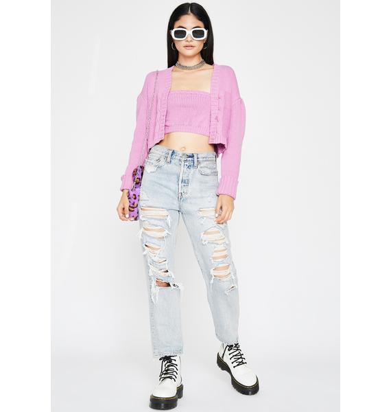 Girlfriend Materials Cardigan Set