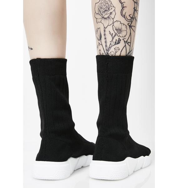 Dark Player For Lyfe Sock Sneakers