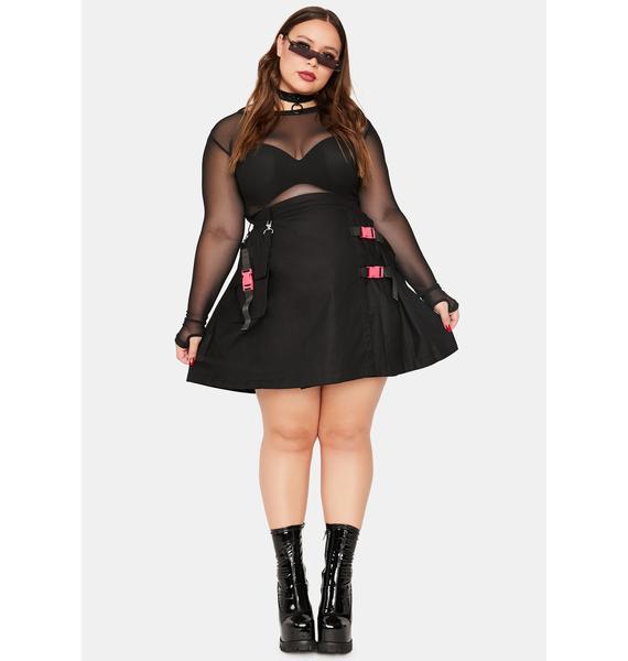 Black Friday Plus Pluto Mini Skirt