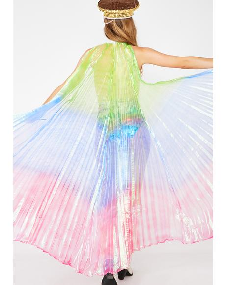 Rainbow Isis Wings Cape