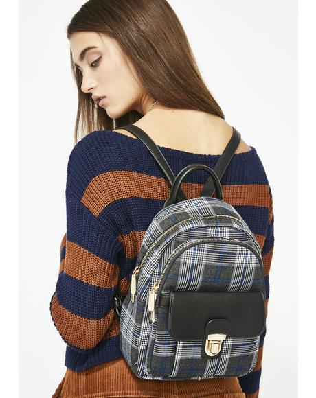 Perfect Attendance Plaid Backpack