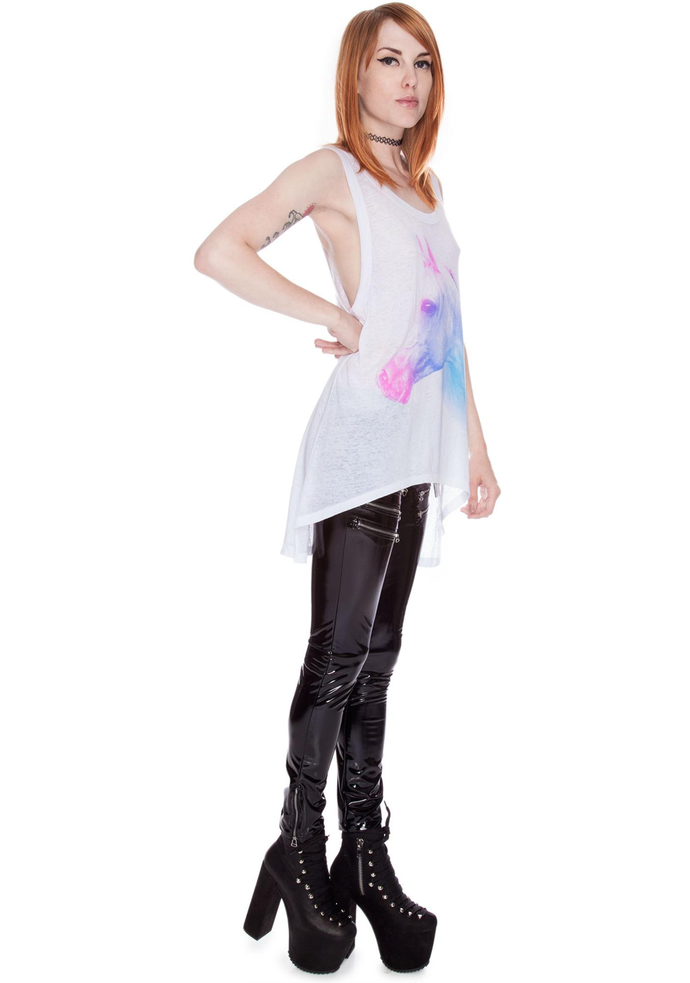 Chaser Unicorn High Low Tank