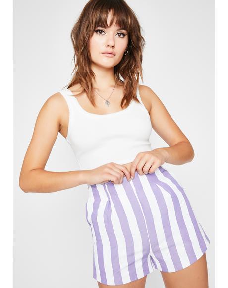 Thottin' N' Plottin' Stripe Shorts