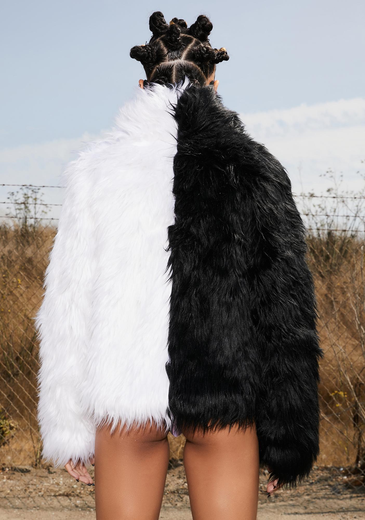 Club Exx Balancing Act Faux Fur Jacket