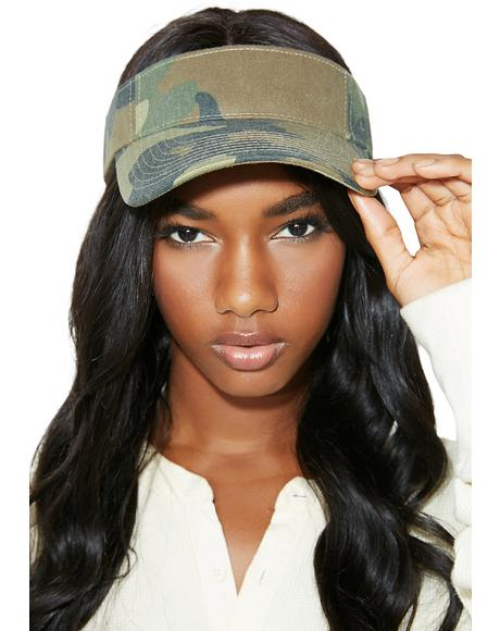 On A Mission Camo Visor